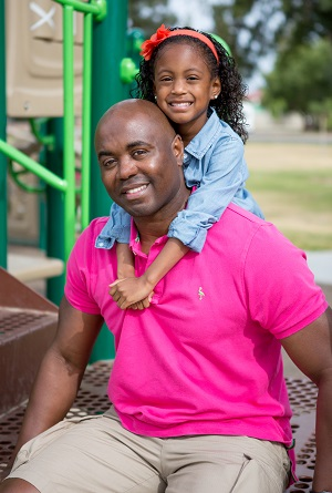 Terrance Minnoy and daughter