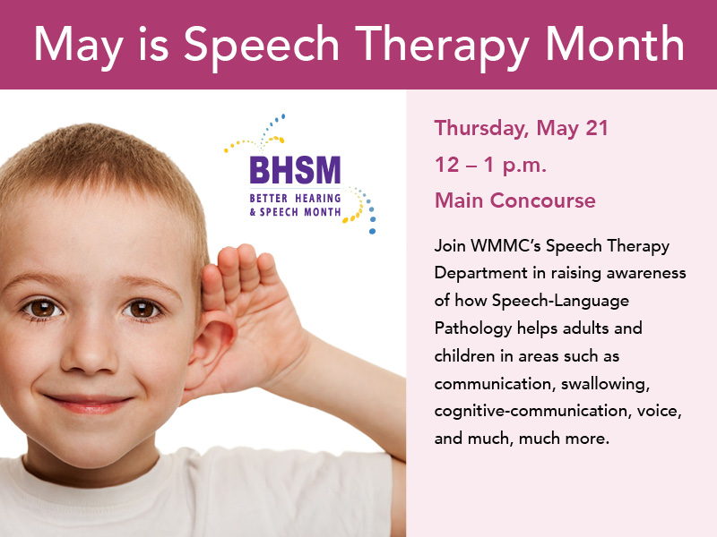 speech therapy month flyer