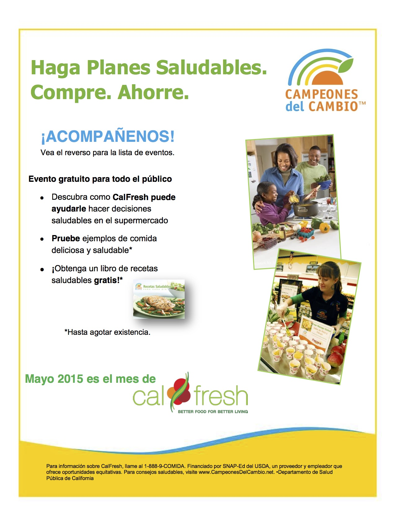 may 2015 cal fresh flyer in spanish