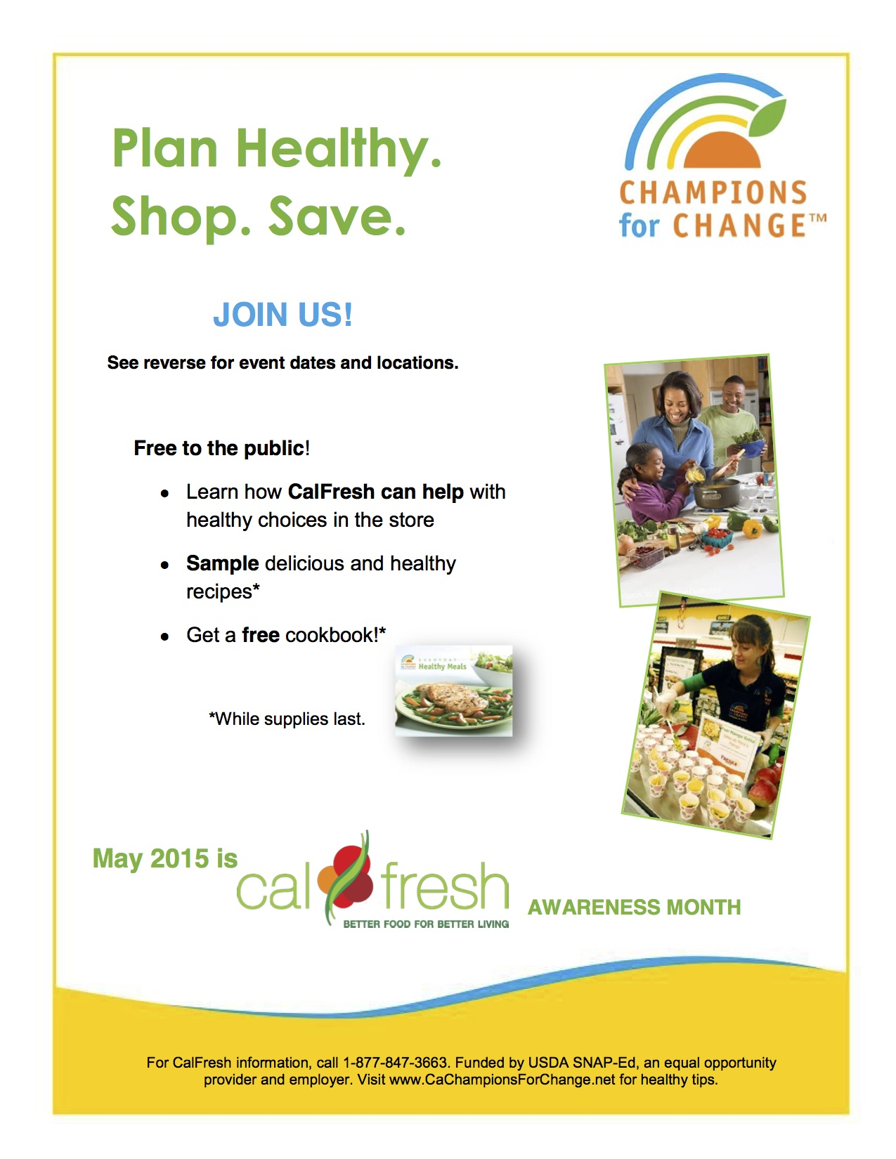 cal fresh flyer in english