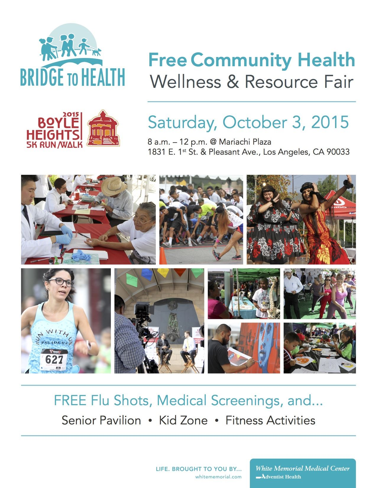 free community health wellness & resource fair flyer