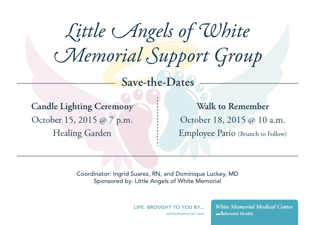 little angels of white memorial support group save the date
