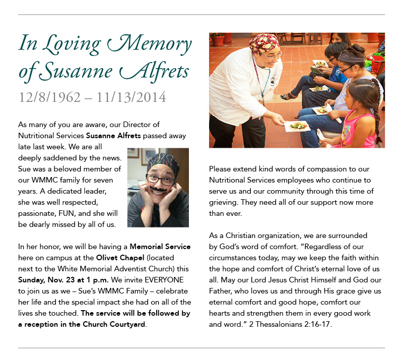 In loving memory of Susanne Alfrets