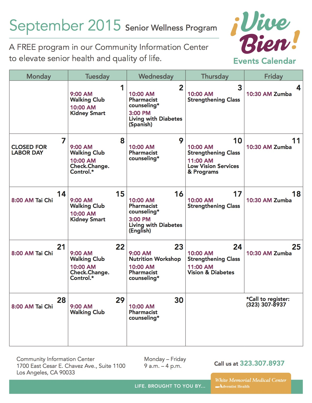 september 2015 englisg vive bien events calendar