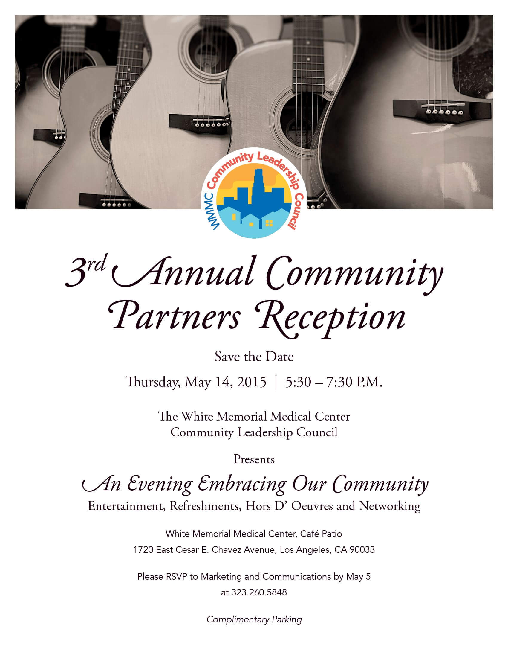 3rd annual community partners reception flyer