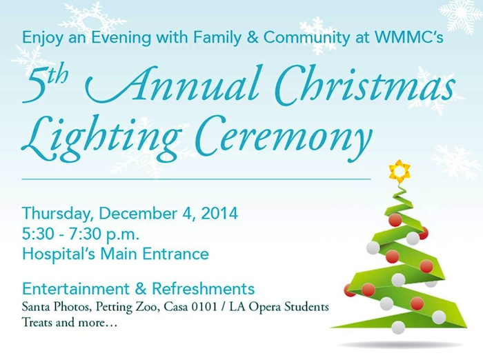 5th annual christmas lighting ceremony flyer