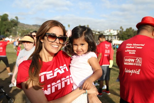 mother holding child at wmmc heart walk