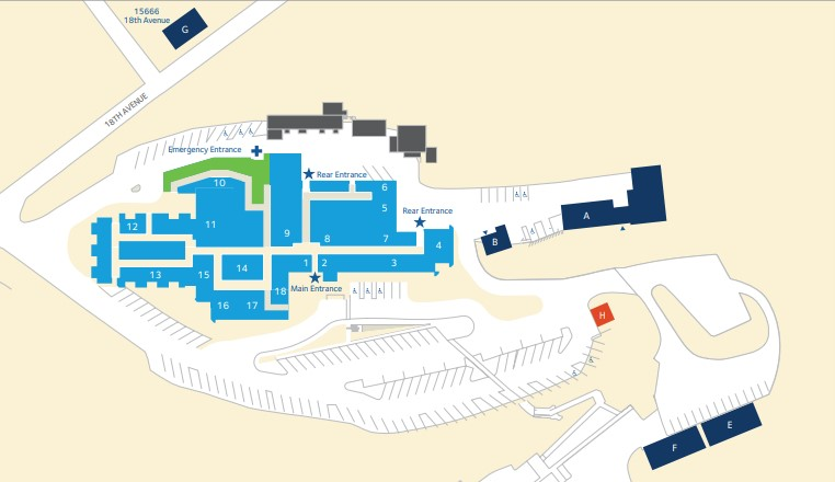 Adventist Health Clear Lake campus map