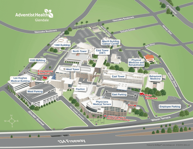 3D map of Glendale campus