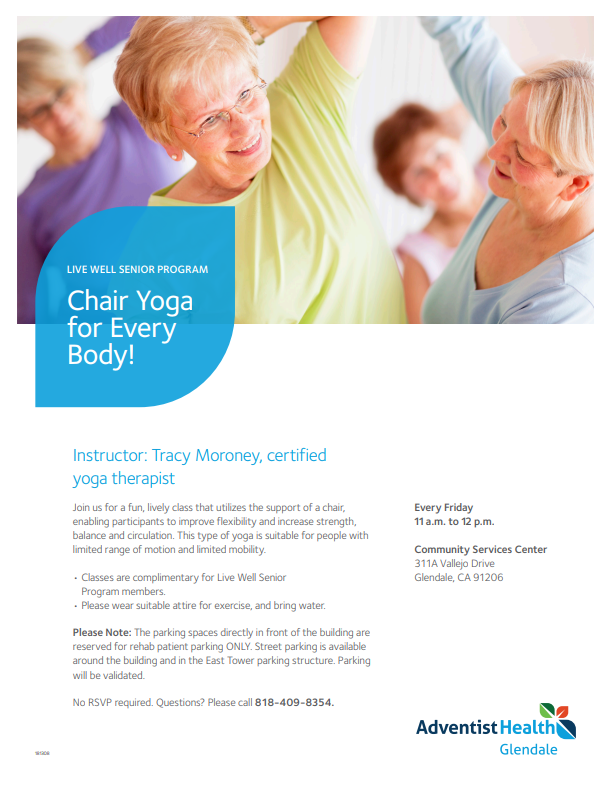 Chair Yoga for EveryBody Adventist Health Glendale