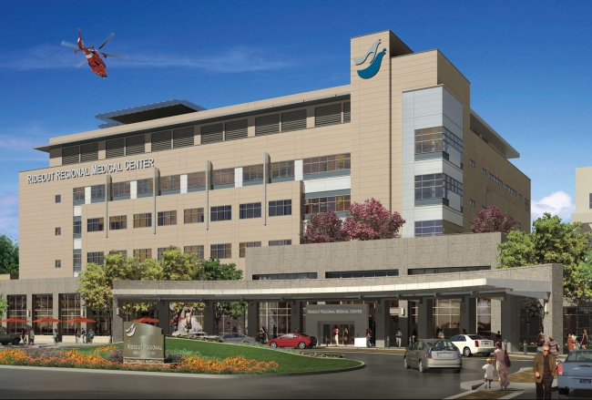 Rideout Regional Medical Center exterior rendering