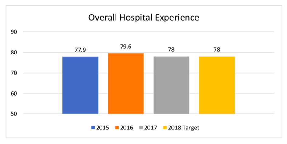 Overall Hospital Experience Bar Graph