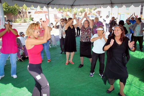 Seniors Zumba at White Memorial Medical Center