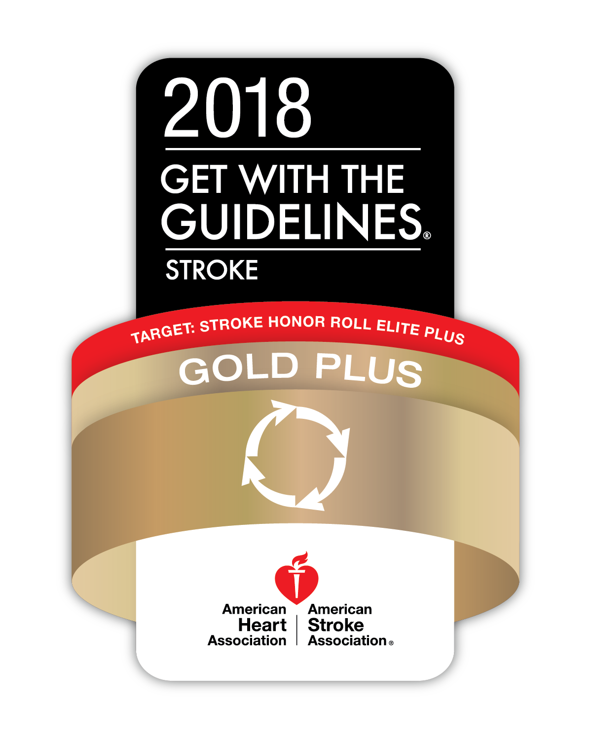 stroke gold plus award logo